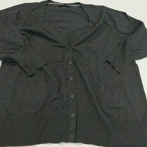 MXM gray button-up cardigan